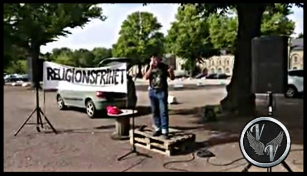Demonstration mot Islam Landskrona